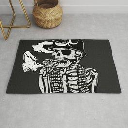 Military skeleton illustration - Soldier skull Rug