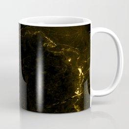 Black Gold Marble Coffee Mug