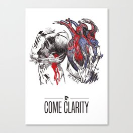 Come Clarity - In Flames by Revolve Canvas Print