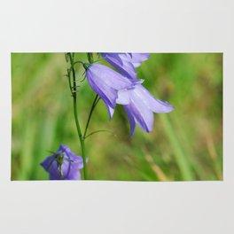 Violet blue Harebell Flower Rug
