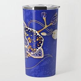 Egyptian Blue :: Orchid Travel Mug