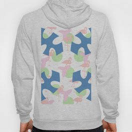 Flamingo blues motif Hoody