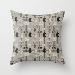 Paper Cut-Out Video Game Controllers Throw Pillow