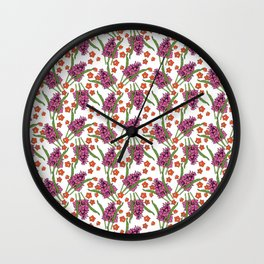 Sultry Summer - Orchids Wall Clock