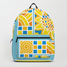 Sunflower. Ukrainian style. Backpack