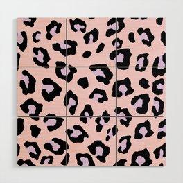 Leopard Print - Lavender Blush Wood Wall Art