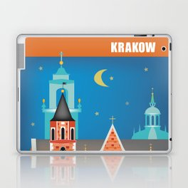 Krakow, Poland - Skyline Illustration by Loose Petals Laptop & iPad Skin