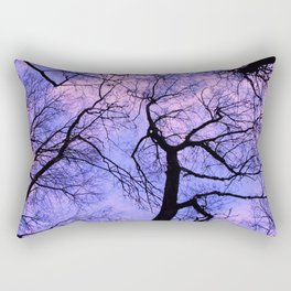 black silhouettes of the trees Rectangular Pillow