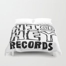 Hi or Hey Records Duvet Cover