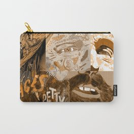 """""""Faces - Petty"""" by Blackard, Boehm, Fiche, Livengood, & McCarthy - Monochrome Carry-All Pouch"""