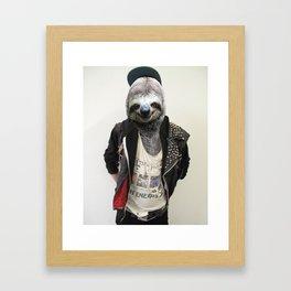 Punk Sloth Framed Art Print