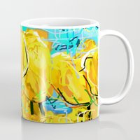 tulips Mugs featuring Tulips  by sladja