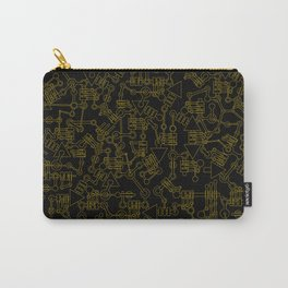 Mecanic Pattern Carry-All Pouch