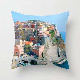 Italy. Cinque Terre - Cliffside Throw Pillow