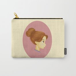 Girl in a Messy Bun Carry-All Pouch