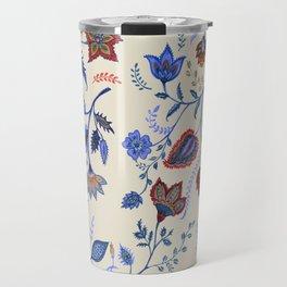 Patterns on Beige by Fanitsa Petrou Travel Mug