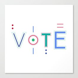 Vote Baby Vote 031916 Canvas Print