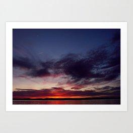 Sebago Lake Sunset Art Print