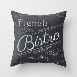 French Bistro 2 Throw Pillow