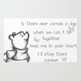 Insightful Pooh Rug