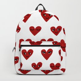 Heart love valentines day gifts hearts with faces cute valentine Backpack