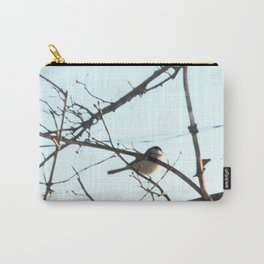 Isolated Little Chickadee Carry-All Pouch