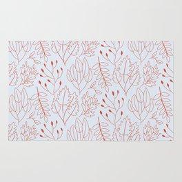 Plant leaf pattern Rug