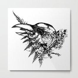 Bird Brain Metal Print