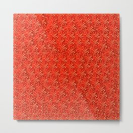 Tomato Pattern Metal Print