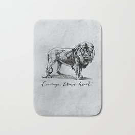 Courage, brave heart - Aslan - Chronicles of Narnia Bath Mat