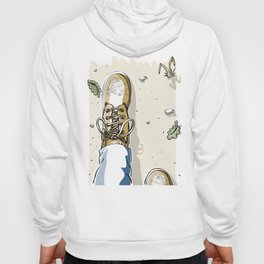 Selfie with Mens Hiking Boots Hoody