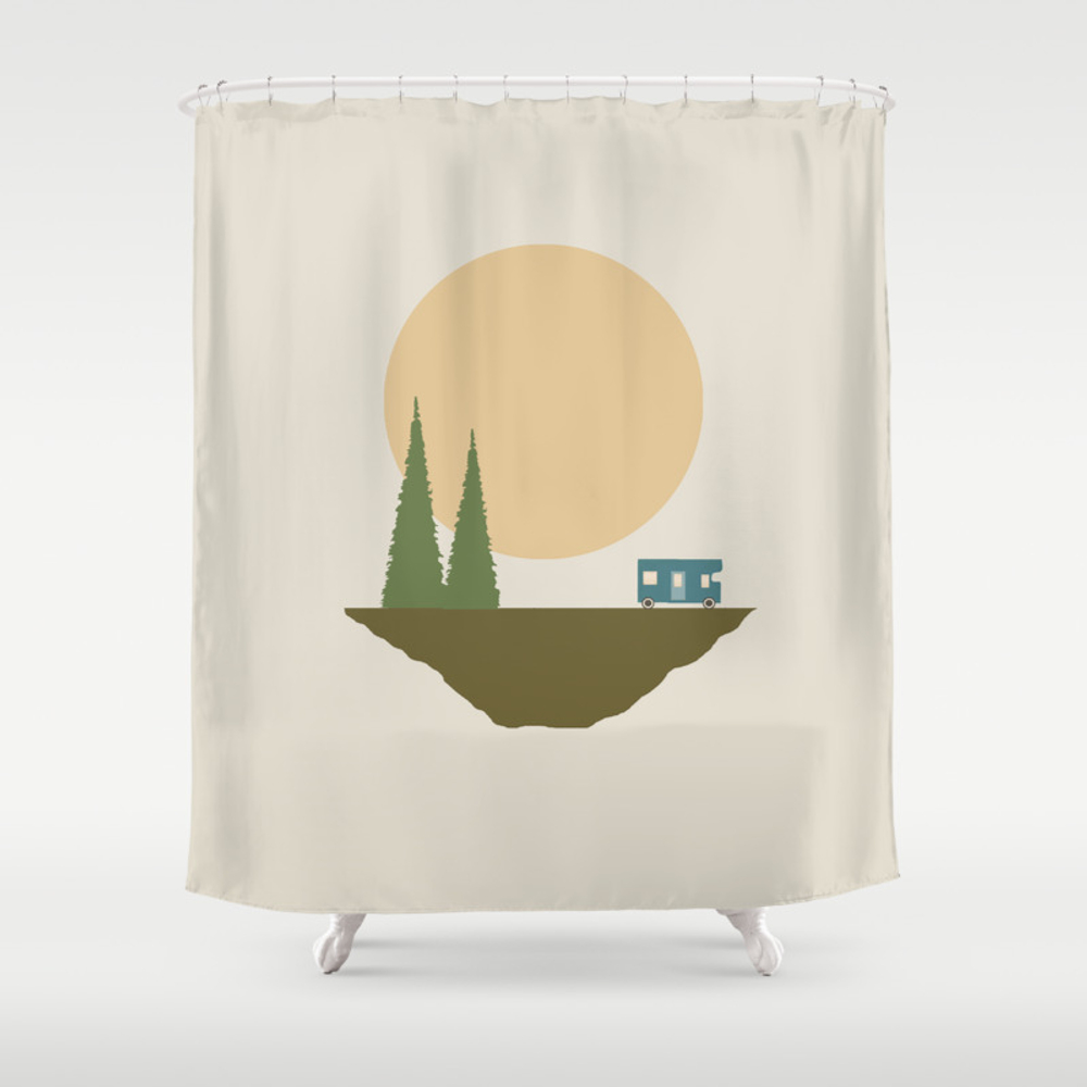 Sunny Day For Camping Shower Curtain by Tammykushnir CTN3915850