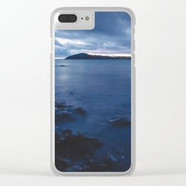 Blue Sunset on the Water, New Zealand Clear iPhone Case