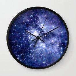 Cobalt Dreams, Universe Stars Space Nebula Wall Clock