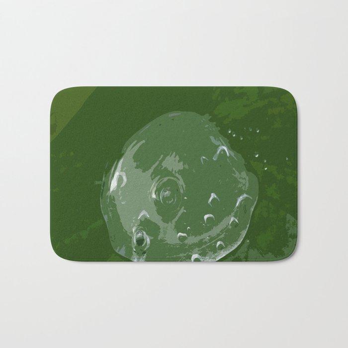 Waterdrop on Green Bath Mat