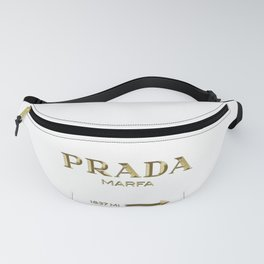 Golden PradaMarfa sign Fanny Pack