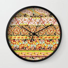 Gypsy Caravan Luxe Stripe Wall Clock