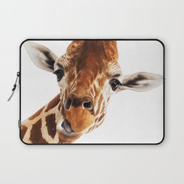 Silly Giraffe // Wild Animal Portrait Cute Zoo Safari Madagascar Wildlife Nursery Ideas Decor Laptop Sleeve