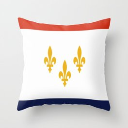 flag of new orleans,NOLA, Crescent City,Big Easy, Nawlins, jazz,Lousiana,french,cajun,treme Throw Pillow