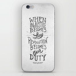 Revolution Becomes Our Duty iPhone Skin