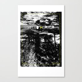 HelloHorror Issue 2 Cover Canvas Print