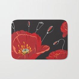 Poppy variation 8 Bath Mat