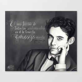 PORTRAIT OF FEDERICO GARCÍA LORCA  Canvas Print