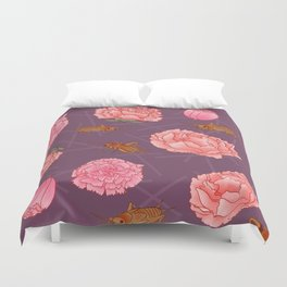 Carnations & Crickets Duvet Cover