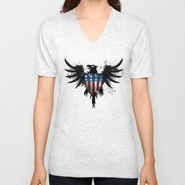 Grunge Eagle Unisex V-Neck