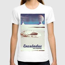 enceladus moon travel poster T-shirt