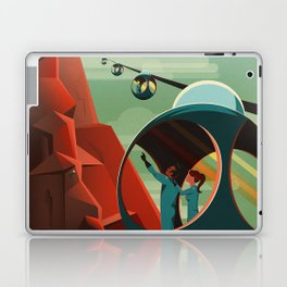 THE VOLCANO OF MARS - Olympus Mons | Space | X | Retro | Vintage | Futurism | Sci-Fi Laptop & iPad Skin