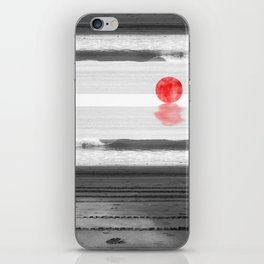 Red Moon at the Beach iPhone Skin