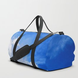 blue cloudy sky std Duffle Bag