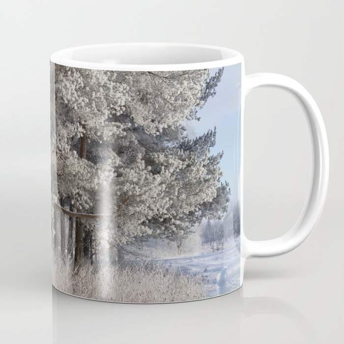 Snowy Path by Winter Woods Coffee Mug